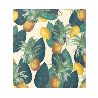 pineapple lemons yellow notepad