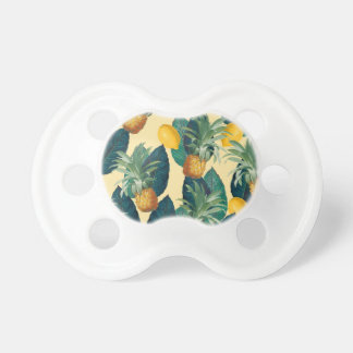 pineapple lemons yellow pacifier