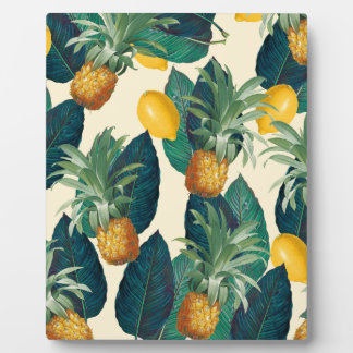 pineapple lemons yellow plaque