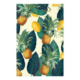 pineapple lemons yellow stationery