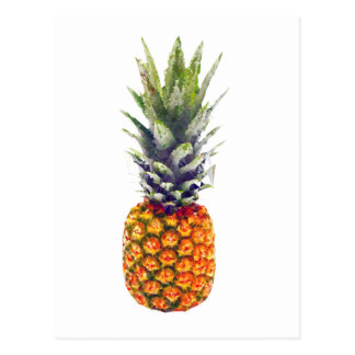 Pineapple Low-Poly Triangulated Postcard