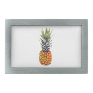 Pineapple Low-Poly Triangulated Rectangular Belt Buckle