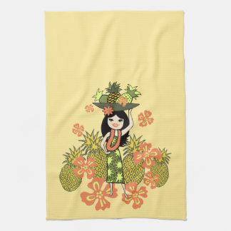 Pineapple Luau Hawaiian Kitchen Towel