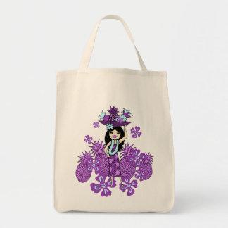 Pineapple Luau Tropical Grocery Bags