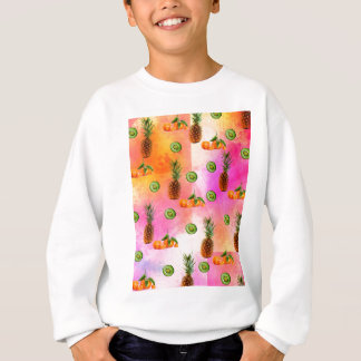 PINEAPPLE MANDARIN AND KIWI PATTERN SWEATSHIRT