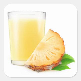 Pineapple milkshake square sticker