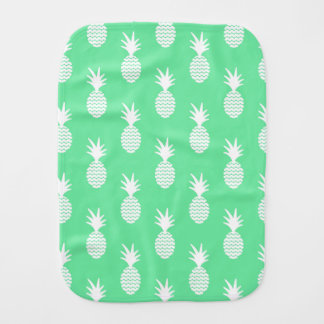 Pineapple Mint Pattern Baby Burp Cloth