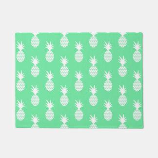 Pineapple Mint Pattern Doormat