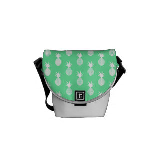 Pineapple Mint Pattern Messenger Bag