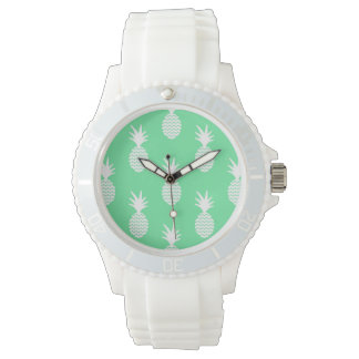 Pineapple Mint Pattern Watches