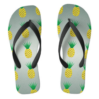 Pineapple Modern Styized Trendy Vector Flip Flops