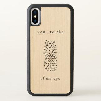 Pineapple of My Eye | Elegant Black Illustration iPhone X Case