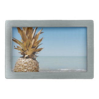 Pineapple on the Beach Rectangular Belt Buckle