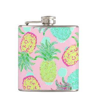 Pineapple Pandemonium Tropical Spring Hip Flask