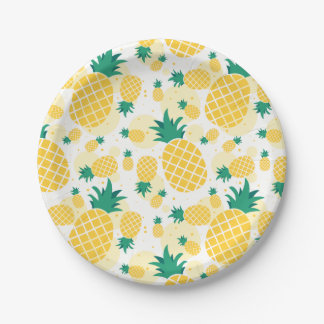 "Pineapple Paper Plates 7"""