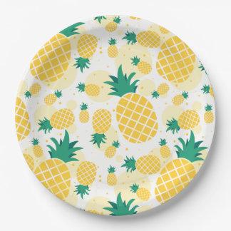 "Pineapple Paper Plates 9"""