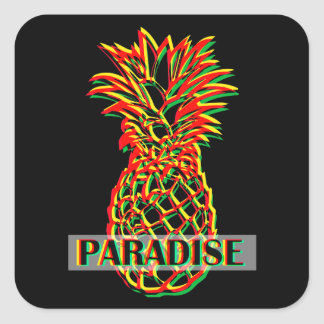 Pineapple Paradise Square Sticker