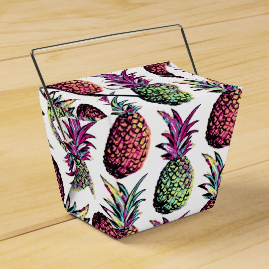 Pineapple Party Pattern Party Favor Boxes