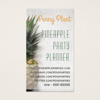 Pineapple Party Planner Business Cards
