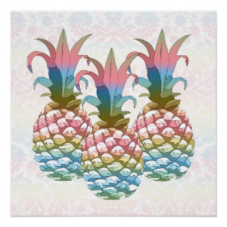 Pineapple Pastel Gradient ID246 Poster