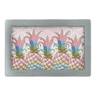 Pineapple Pastel Gradient ID246 Rectangular Belt Buckle