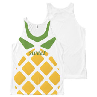 Pineapple Pattern All-Over-Print Tank Top