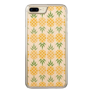 Pineapple Pattern Carved iPhone 8 Plus/7 Plus Case