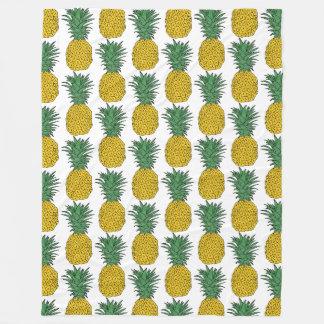 Pineapple Pattern Fleece Blanket