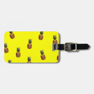 pineapple pattern luggage tag