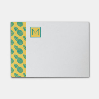 Pineapple Pattern | Monogram Post-it® Notes