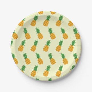 Pineapple Pattern Paper Plate