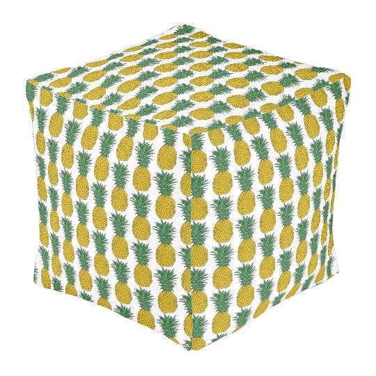 Pineapple Pattern Pouf