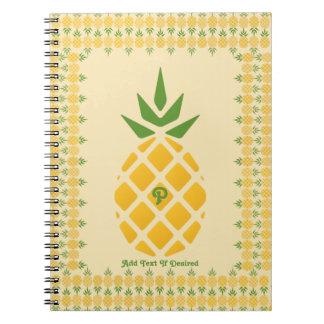 Pineapple Pattern Spiral Notebook