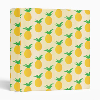 Pineapple Pattern Yellow Green 3 Ring Binders