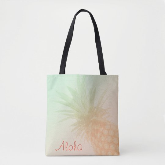 Pineapple Personalized Tote Bag