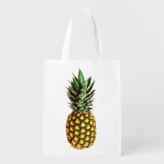 Pineapple photo reusable grocery shopping bag