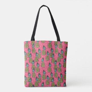 Pineapple Pink Tropical Exotic / Andrea Lauren Tote Bag