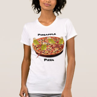 """Pineapple Pizza"" Parrot Pun T-Shirt"