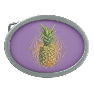 Pineapple Power Oval Belt Buckle