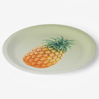 Pineapple Princess 9 Inch Paper Plate