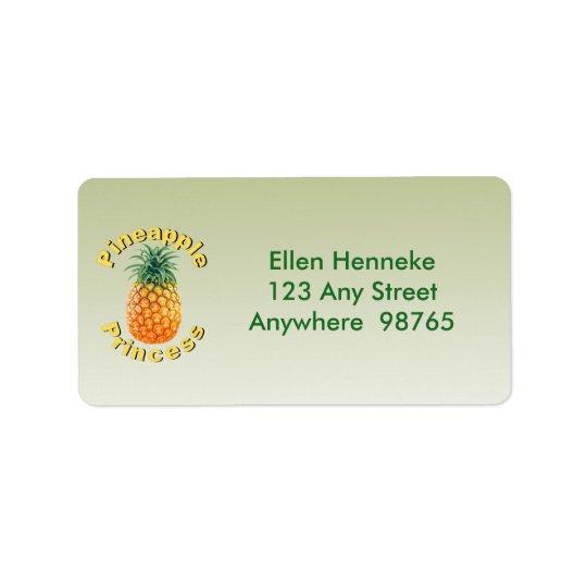 Pineapple Princess Label