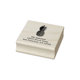 Pineapple print custom rubber address stamps