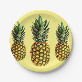 Pineapple print disposable paper party plates 7 inch paper plate