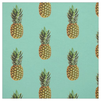Pineapple print DIY textile fabric