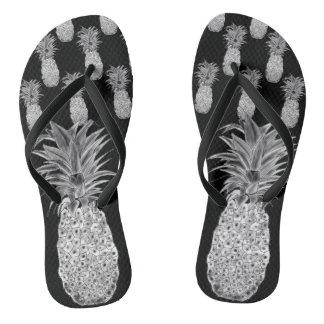Pineapple Print Flip Flops