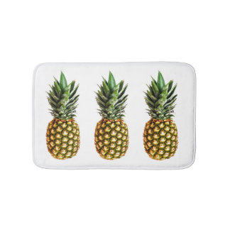 Pineapple print non slip bath mat for bathroom