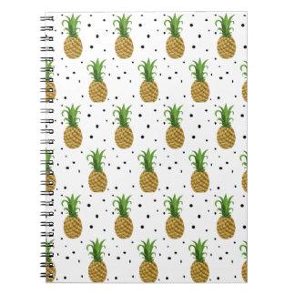 Pineapple Print Notebook