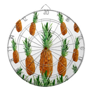 pineapple print polygonal pattern dartboard