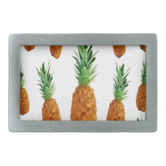 pineapple print polygonal pattern rectangular belt buckles