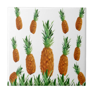 pineapple print polygonal pattern tile